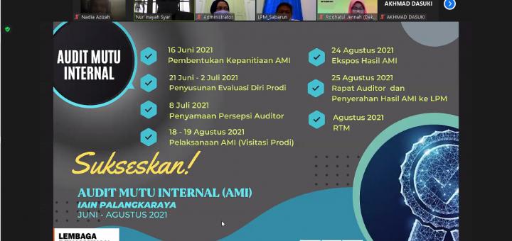 Audit Mutu Internal LPM IAIN Palangka Raya